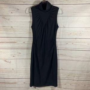 Theory Black Amabel Sleeveless Light Wool Dress